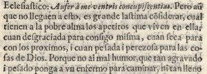 """Images with irregular spacing between characters poses a great challenge to identify word boundaries (see, for example, the fifth line whose correct transcription reads """"con los proximos, i cuan peſada i perezoſa para las co-"""")"""
